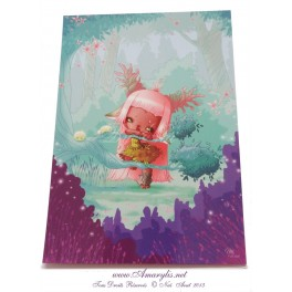 "Carte d'art A5  ""Little World : Girl"""