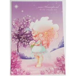 "Carte d'art A5  ""Licorne"""