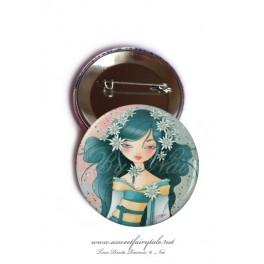 "Badge 56 mm ""Geisha Edelweiss"""