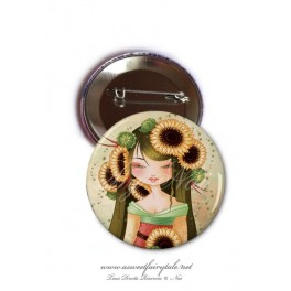 "Badge 56 mm ""Geisha Tournesol"""