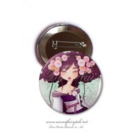 "Badge 56 mm ""Geisha Dahlia"""