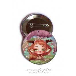 "Badge 56 mm ""Geisha Kitsune"""