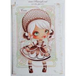 "Carte d'art A6 ""Ice Cream Lotita Coco"""