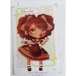 "Carte d'art A6 ""Ice Cream Lotita Chocolat"""