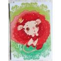 """Carte d'art A6 """"Signe du Zodiaque Lion"""""""