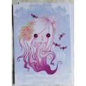 """Carte d'art A6 """"Signe du Zodiaque Vierge"""""""