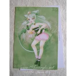 """Carte d'art A6 """"Queen Neko"""""""