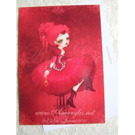 "Carte d'art A6 ""Queen Sweat Heart"""