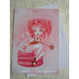 "Carte d'art A6 ""Queen Candy"""