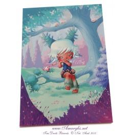 """Carte d'art A6 """"Little World Boy"""""""