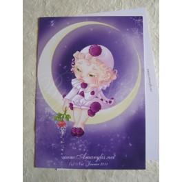 """Carte d'art A6 """"Pierrot"""""""
