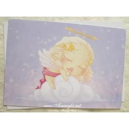 """Carte d'art A6 """"Lou Sleeping Angel"""""""