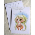 "Carte d'art A6 ""Lou Fairy"""
