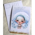 "Carte d'art A6 ""Lou Coton Fairy"""