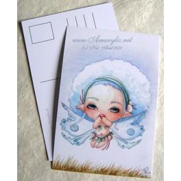 """Carte d'art A6 """"Lou Coton Fairy"""""""