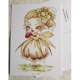 """Carte d'art A6 """"Fairy and the ladybird"""""""