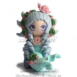 Sirène, figurine en pâte polymère