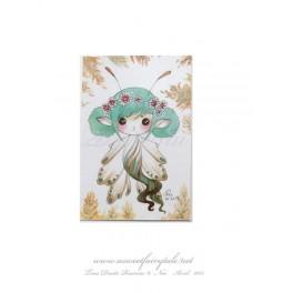 Mini Carte d'art petite fée papillon