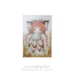 Mini Carte d'art petite fée renard