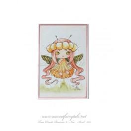 Mini Carte d'art petite fée libellule