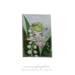 Mini Carte d'art Fée muguet