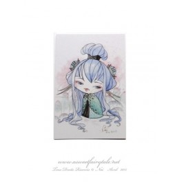 Mini Carte d'art petite Kokeshi