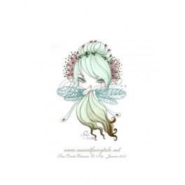 Mini Aquarelle d'une petite fée style manga