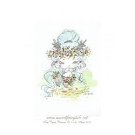 Esquisse Aquarelle Centaure style manga