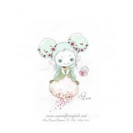 Esquisse Aquarelle Fée style manga