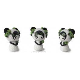 Ours panda Figurine Fimo Kawaïi pet