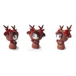 Cerf Figurine Fimo Kawaïi pet