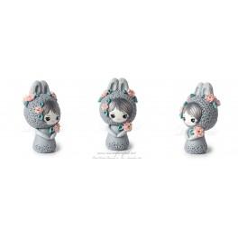 Lapin Figurine Fimo Kawaïi pet
