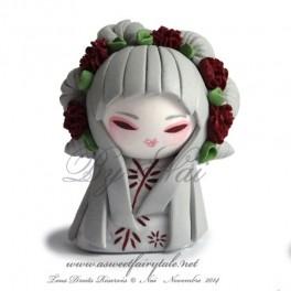 Sur demande réalisation d'une figurine Kokeshi