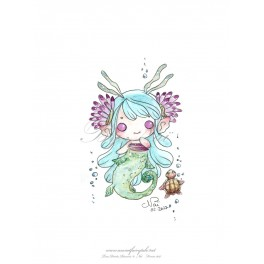 Esquisse Aquarelle Sirène