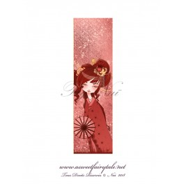 Marque Pages geisha rouge