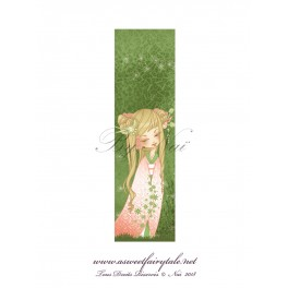 Marque Pages geisha vert
