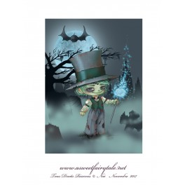"Carte d'art A6 ""Gothique Zombi Boy"""