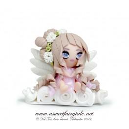 Figurine ange poupée polymère